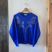 lady's blue design sweat