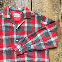 Men's 1950〜60s PENNY'S TOWNCRAFT L/S opencollar check shirts(Men's M)