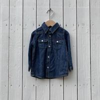 kids L/S denim shirt(12M/80cm)
