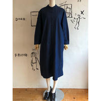 lady's stand collar shirt one-piece