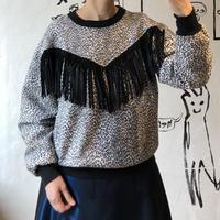 lady's 1980's animal pattern & fringe  tops