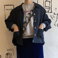 lady's navy color linen jacket