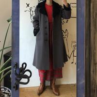 lady's fur collar vintage coat