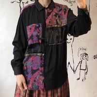lady's fabric laminate blouse