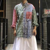 lady's plaid pattern shirt