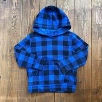 kids check pattern hoodie(4T/110cm)