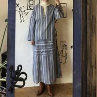 lady's stripe pattern relax one-piece