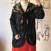 lady's scarf color blouse
