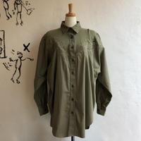 lady's mesh& cutwork lace design blouse