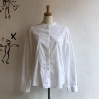 lady's stand collar embroidery blouse