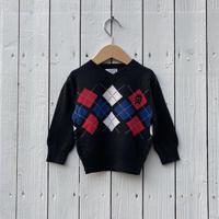 kids argyle cotton knit(6-9M/60-70cm)