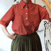 lady's dot pattern pullover tops