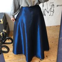 lady's blue gloss maxi length volume skirt