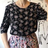 lady's design collar tops