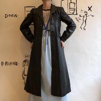 lady's black leather coat