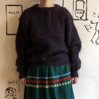 lady's purple sweater