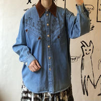 lady's embroidery western style shirt