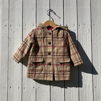 kids check coat(9-12M/70cm-80cm)
