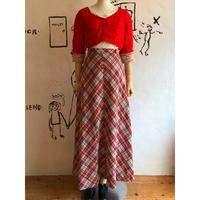 lady's 1970's vintage plaid pattern  maxi length skirt