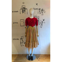 lady's 1970's Tyrolean floral pattern skirt