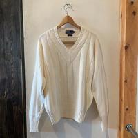 lady's polo Vneck line cotton knit