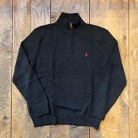 Men's RALPH LAUREN half zip cotton sweater(Men's XL)
