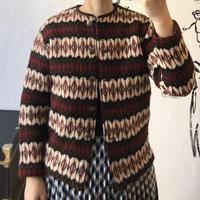 lady's hand knitting cardigan
