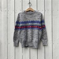 kids nordic pattern knit(6T/120cm)