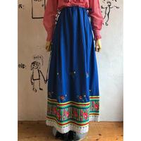 lady's vintage flower&lace  design skirt