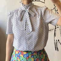 lady's dot pattern blouse