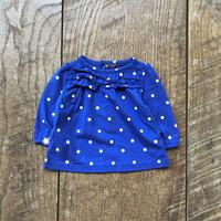 kids L/S girls tops multi dot(3M/50cm)