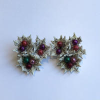 lady's holly olive earring
