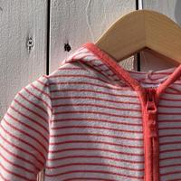 kids border zip up parka(0-3M/50cm)