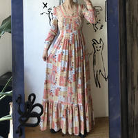 lady's 1970's floral pattern one-piece