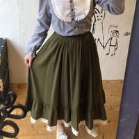 lady's khaki × lace skirt