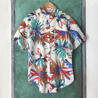 lady's colorful pattern short sleeve shirt