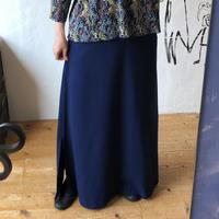 lady's navy color maxi length skirt