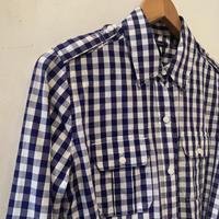 lady's plaid shirt dress