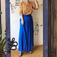 lady's blue long skirt