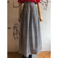 lady's gingham check maxi length skirt