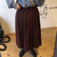 lady's brown  color pleats skirt