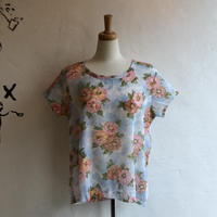 lady's pastel floral pattern tops