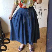 lady's denim flare skirt