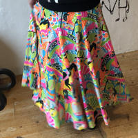 lady's 1950's merry-go-round  pattern  flare skirt