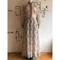 1970's floral pattern maxi length dress