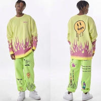 FNTY/Flying FLAME Crewneck NEON YELLOW