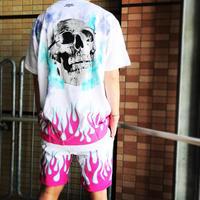 BOOHOO × Migos /Flame oversize Tshirts WHITE
