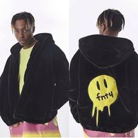 FNTY/FUR Hoodie Jacket BLACK
