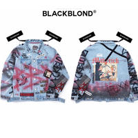 BLACK BLOND/CUSTOM Denim Jacket(BLUE)