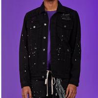 BOOHOO /BANDANA BLACK Denim Jacket